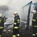 Poniatów: pożar stodoły