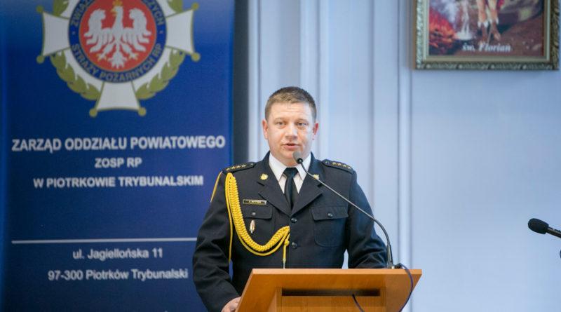 st. kpt. Jakub Rytych, druh naszej jednostki, oficjalnie objął obowiązki Komendanta PSP w Piotrkowie Tryb.