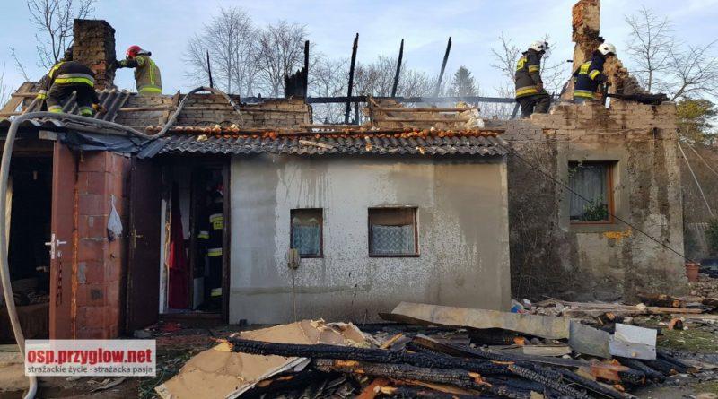 Pożar budynku mieszkalnego w Białej