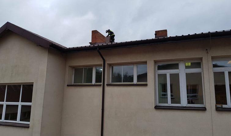 Zagrożenie w Szkole Podstawowej we Włodzimierzowie
