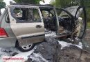 Pożar samochodu osobowego na DK 12 w Poniatowie