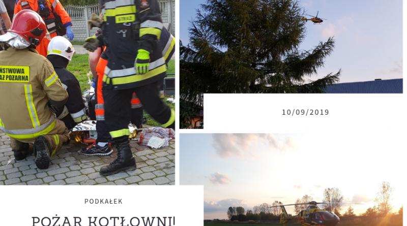 Podkałek: pożar budynku mieszkalnego. Jedna osoba poszkodowana!