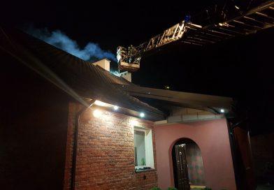 Zalesice Kolonia: pożar sadzy w kominie