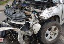 Zderzenie dwóch samochodów na DK 12 w Przygłowie