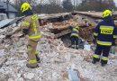 Wyczuwalny zapach gazu na gruzowisku we Włodzimierzowie