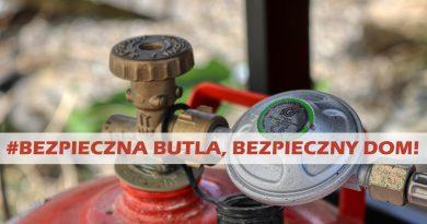 #Bezpieczna butla, bezpieczny dom – kampania informacyjna