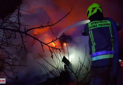 Pożar w Sulejowie. Spłonęła doszczętnie stodoła